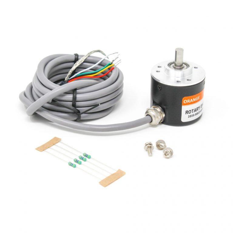 Orange Rotary Incremental Optical Encoders-ROBU.IN