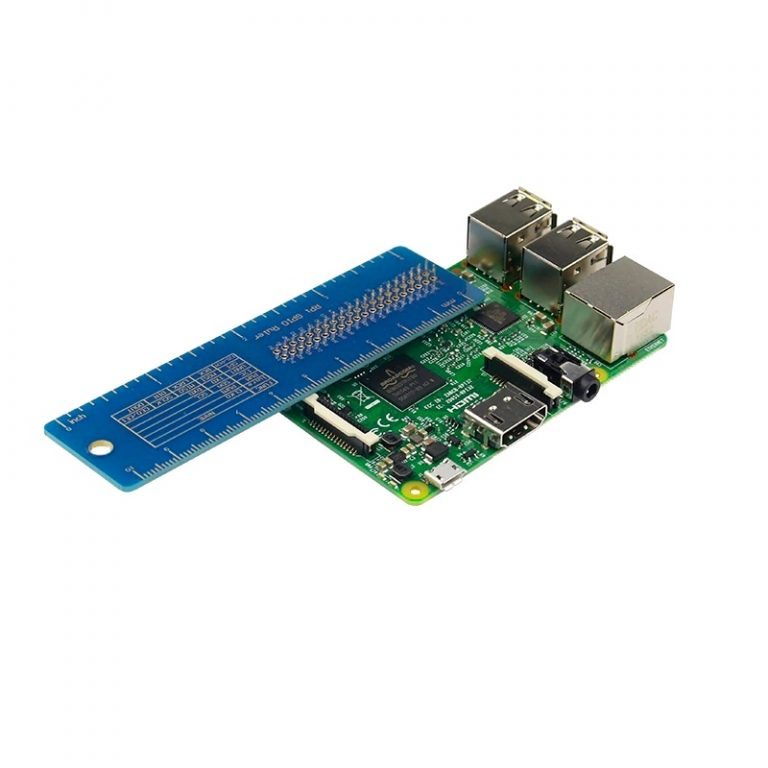 Raspberry Pi 3B2BB+ GPIO Ruler V2