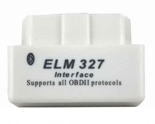 White V1.5 ELM327 OBD2 Bluetooth Interface Auto Car Scanner