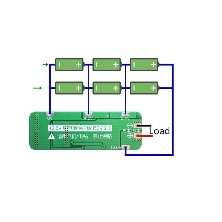 3 Series 20A 18650 Lithium Battery Protection Board 11.1V 12V 12.6V