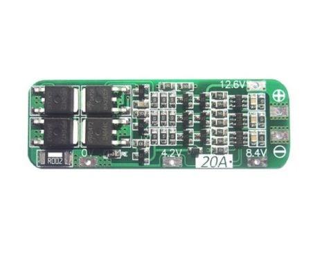 3 Series 20A 18650 Lithium Battery Protection Board 11.1V 12V 12.6V