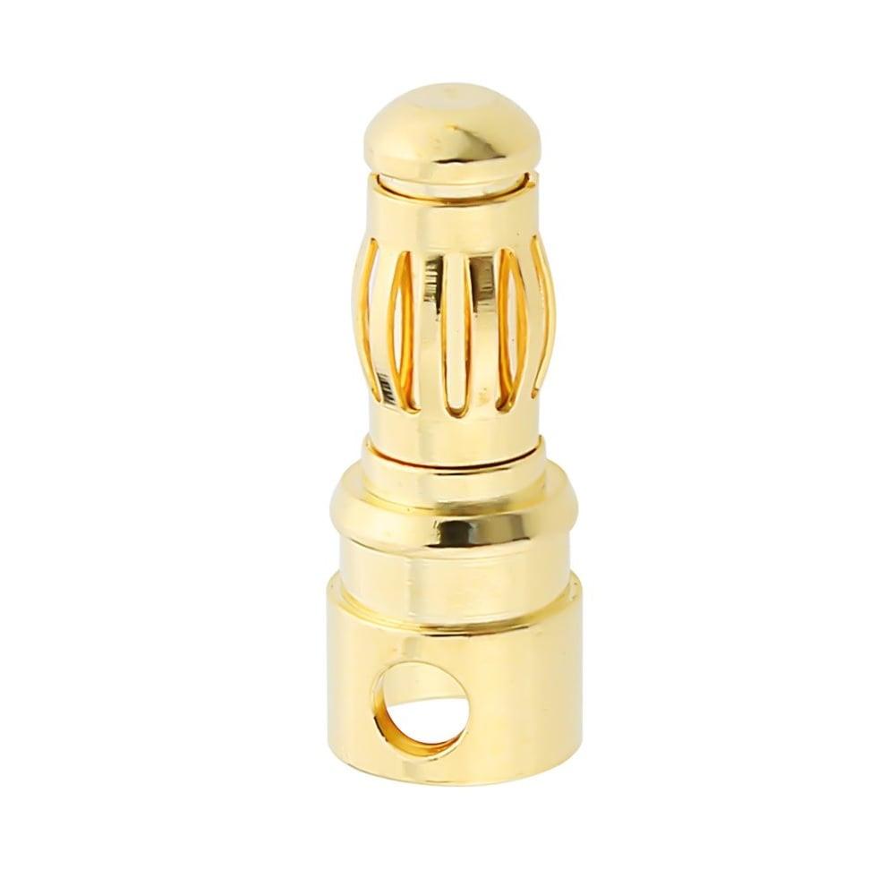 4mm Gold Connectors Male-