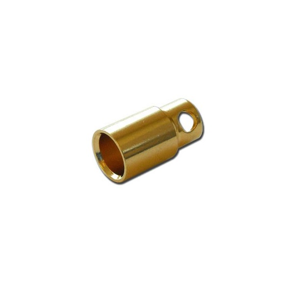 8mm Gold Plated Bullet Connector Female-1Pcs.