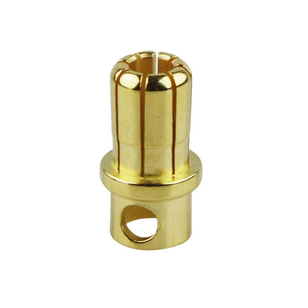 8mm Gold Plated Bullet Connector Male
