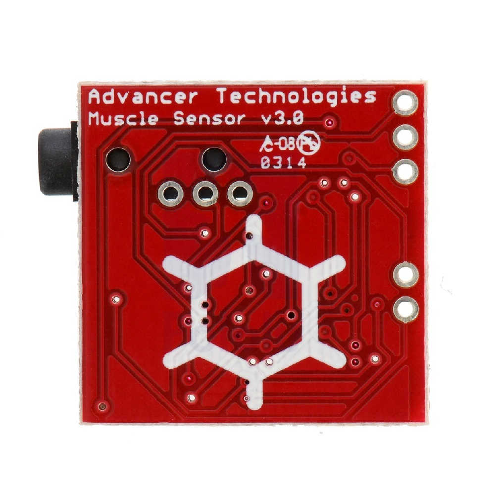 Advancer Technologies EMG Muscle Sensor V3.0 With Cable And Electrodes