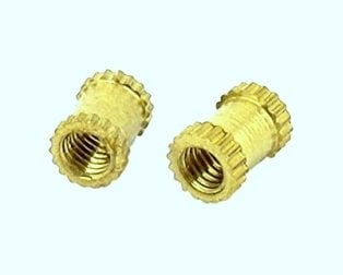 Brass Heat Set Knurl Threaded Round Insert Nut