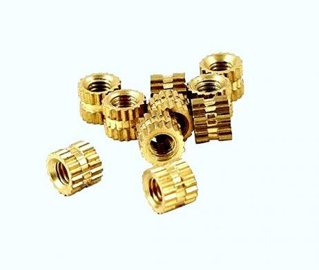 Brass Heat Set Knurl Threaded Round Insert Nut