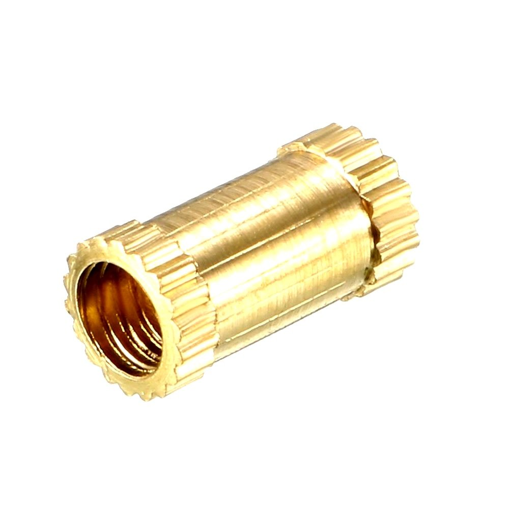 M5 X 8 mm Brass Heat set Threaded Round Insert Nut - 25 Pcs