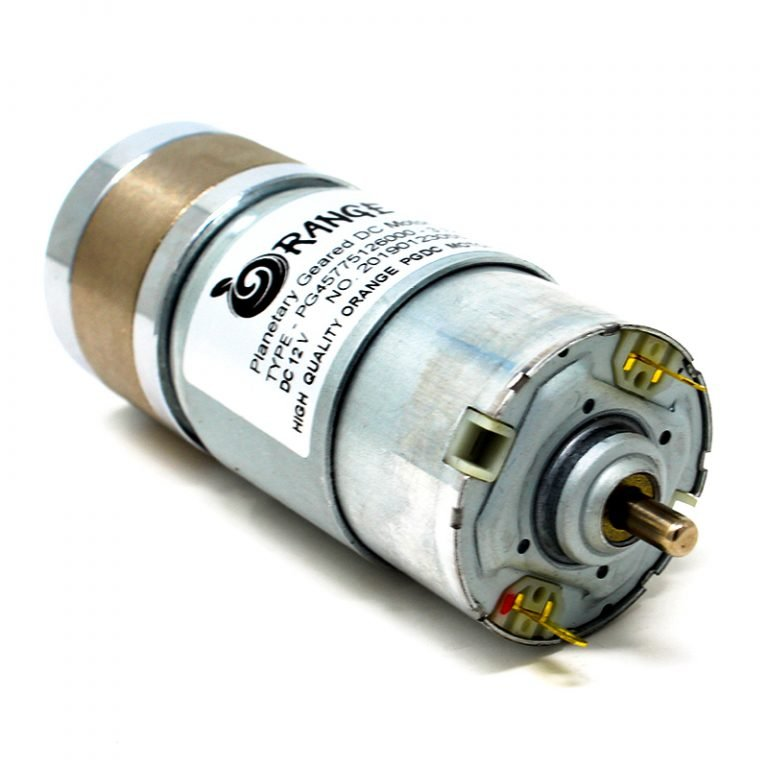 Orange Planetary Gear DC Motor 12V 1350RPM 1.98Kg-CM PGM45775-3.7K