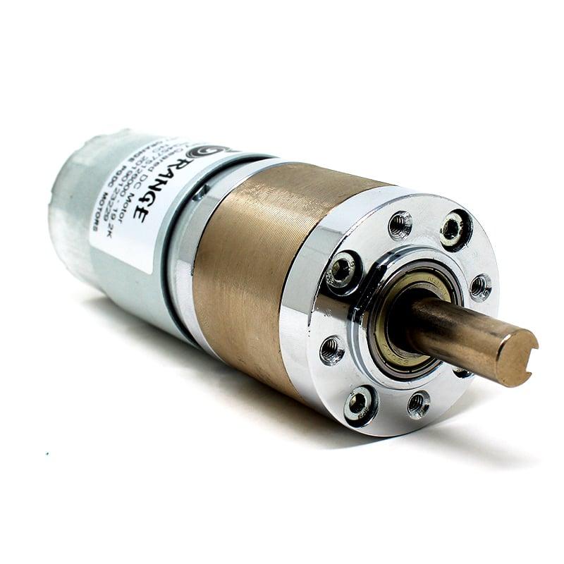 Orange Planetary Gear DC Motor 12V 256RPM 9.74Kg-CM PGM45775-19.2K