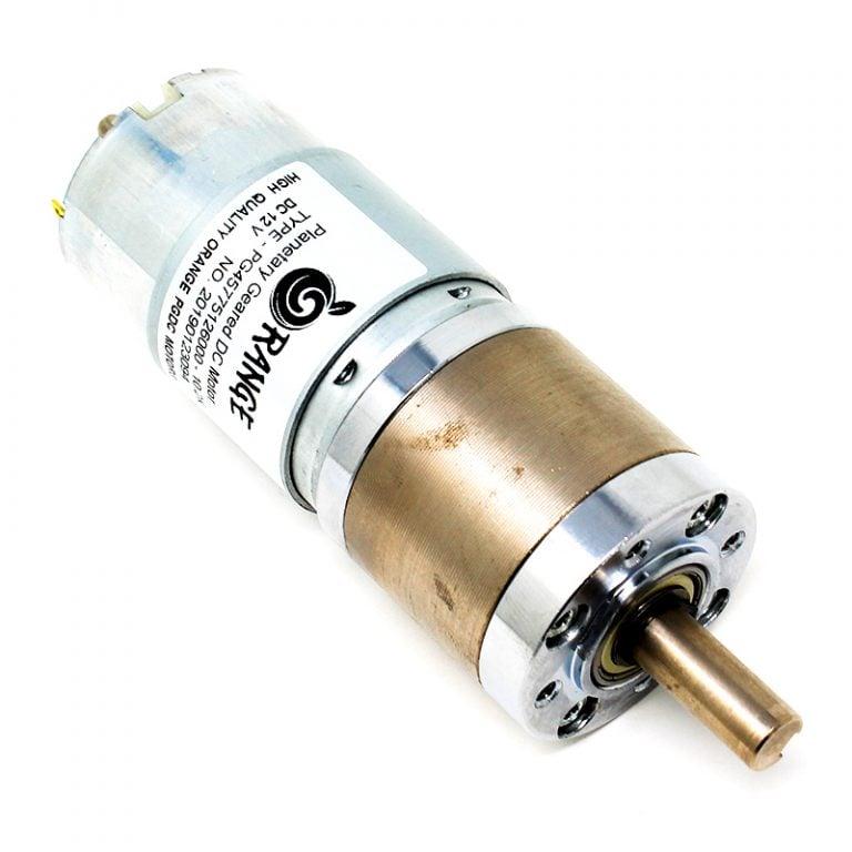 Orange Planetary Gear DC Motor 12V 487RPM 4.38Kg-CM PGM45775-10.2K