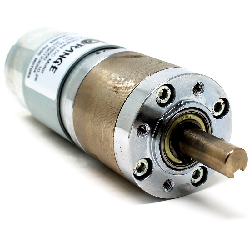 Orange Planetary Gear DC Motor 12V 92RPM 23.93Kg-CM PGM45775-50.9K