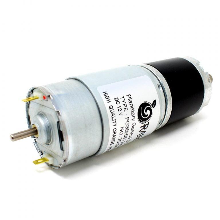 Orange Planetary Gear DC Motor 12V 96RPM 12.42Kg-CM PG36M555-50.9K