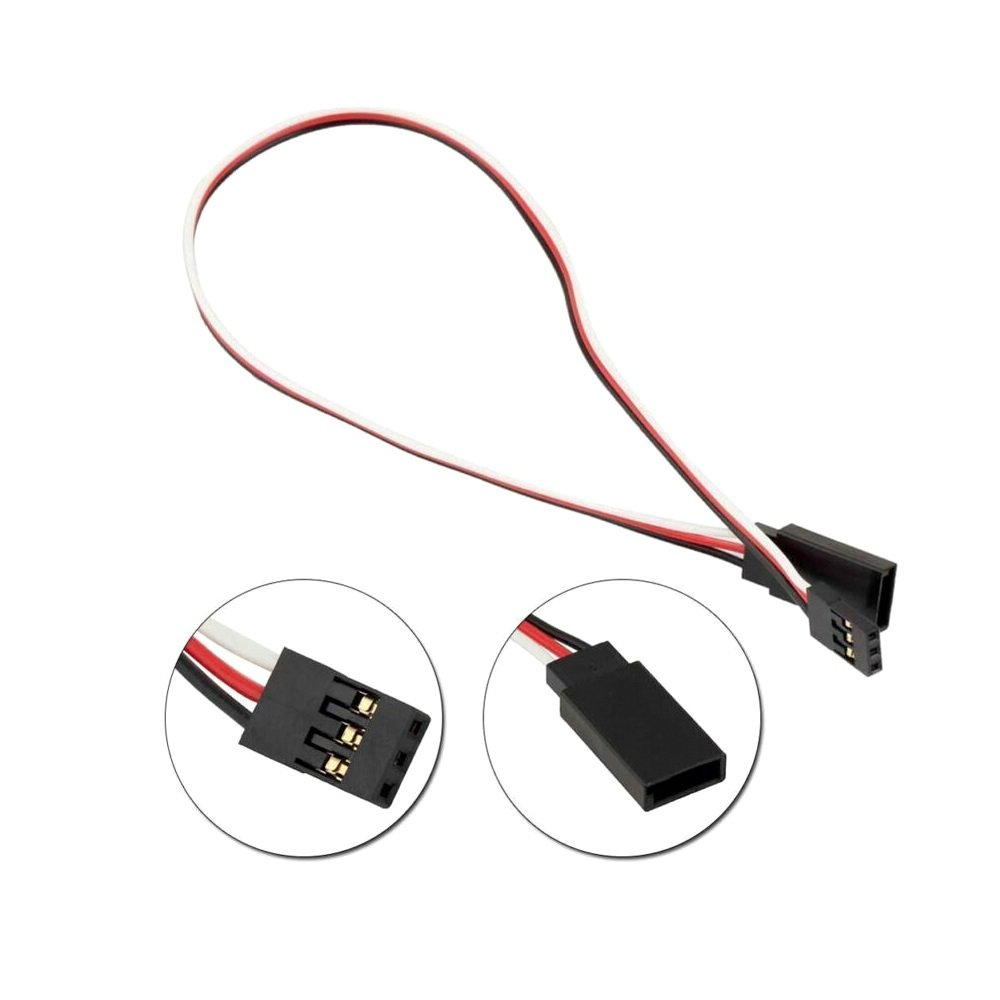 SafeConnect FLAT 45CM Servo Lead Extension (Futaba) Cable