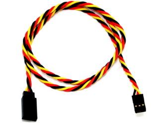 SafeConnect Twisted 60CM 22AWG Servo Lead Extension (JR) Cable