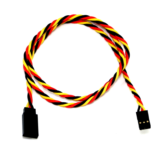 SafeConnect Twisted 45CM 22AWG Servo Lead Extension (JR) Cable