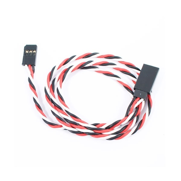 SafeConnect Twisted 60CM 22AWG Servo Lead Extension (Futaba) Cable
