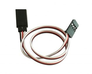 SafeConnect Flat 30CM Servo Lead Extension (Futaba) Cable