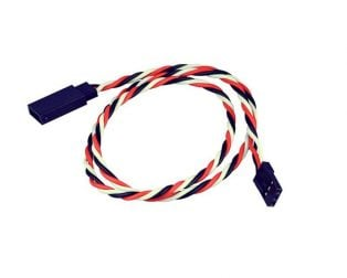 SafeConnect Twisted 30CM 22AWG Servo Lead Extension (Futaba) Cable