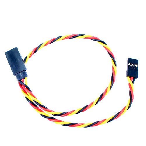 SafeConnect Twisted 30CM 22AWG Servo Lead Extension (JR) Cable