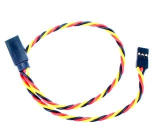 SafeConnect Twisted 15CM 22AWG Servo Lead Extension (JR) Cable