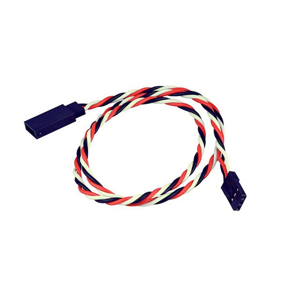 SafeConnect Twisted 45CM 22AWG Servo Lead Extension (Futaba) Cable