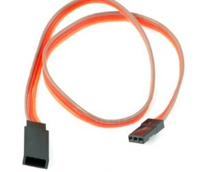 SafeConnect FLAT 45CM 26AWG Servo Lead Extension (JR) Cable
