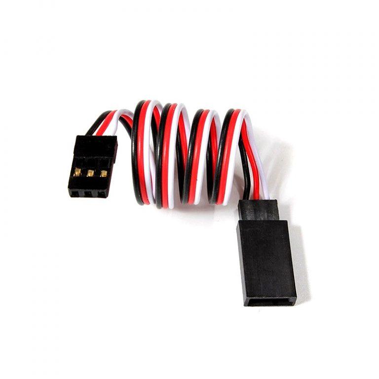 SafeConnect Flat 30CM Servo Lead Extension (Futaba) Cable