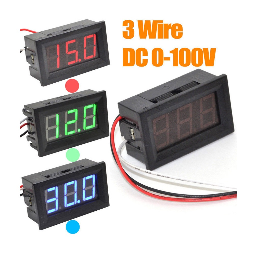 0.56inch 0-100V Three Wire DC Voltmeter (1)