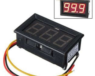 0.56inch 0-100V Three Wire DC Voltmeter (1)
