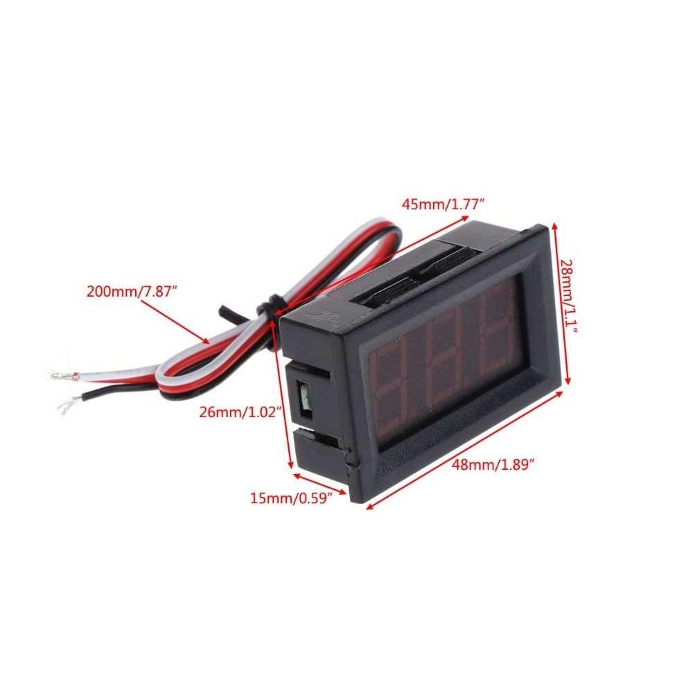 0.56inch 0-100V Three Wire DC Voltmeter
