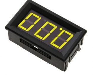 0.56inch 0-100V Three Wire DC Voltmeter