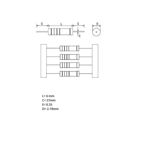 100pcs Resistor Kit