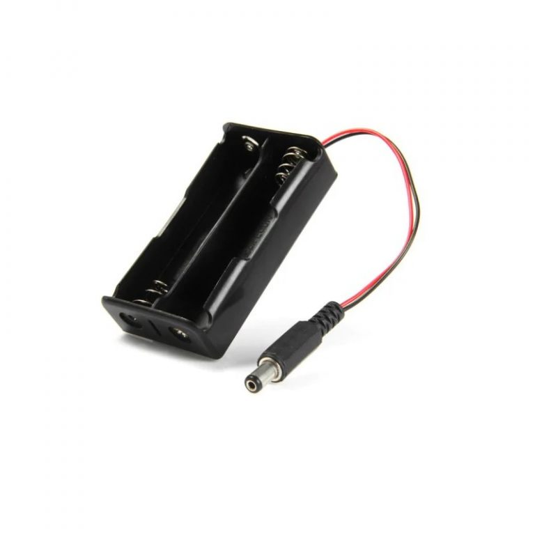 2 x 1.5V AA Battery Holder with DC2.1 Power Jack