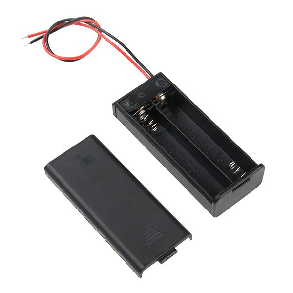 2 x 1.5V AAA battery holder with cover and OnOff Switch