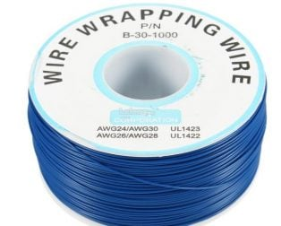 230m PN B-30-1000 Insulated PVC Coated 30AWG Wire Wrapping Wire-BLUE