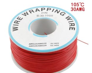 230m PN B-30-1000 Insulated PVC Coated 30AWG Wire Wrapping Wire-RED