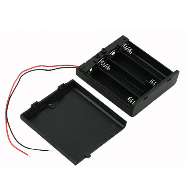 4 x 1.5V AAA battery holder with cover and OnOff Switch