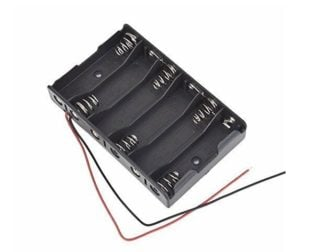 6 x 1.5V AA Battery Holder Without Cover