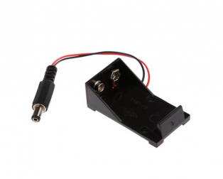 9V Battery Holder with DC Jack