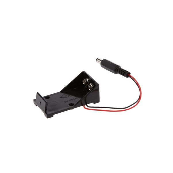 9V Battery Holder with DC Jack
