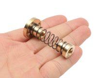 Brass T8 Anti-Backlash Spring Loaded Screw Nut For Lead 8mm Lead Screws - ROBU.IN