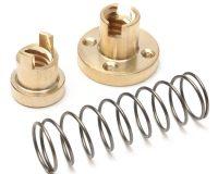Brass T8 Anti-Backlash Spring Loaded Screw Nut For Lead 8mm Threaded Rod Lead Screws-ROBU.IN