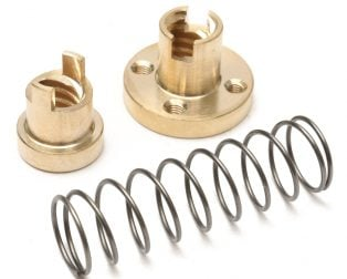 Brass T8 Anti-Backlash Spring Loaded Screw Nut For Lead 8mm Threaded Rod Lead Screws-ROBU.IN
