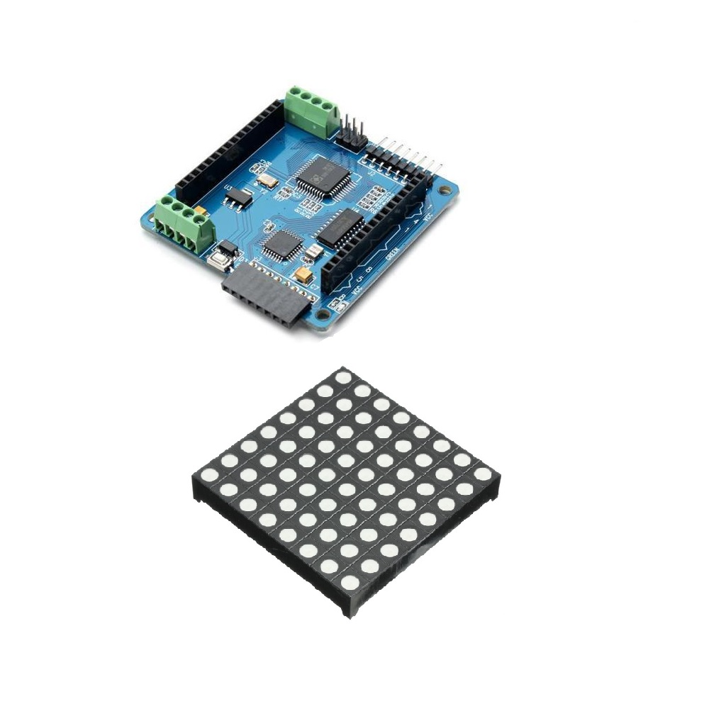 Colorduino LED RGB Dot Matrix Driver Board with 5mm 8*8 RGB LED for Arduino