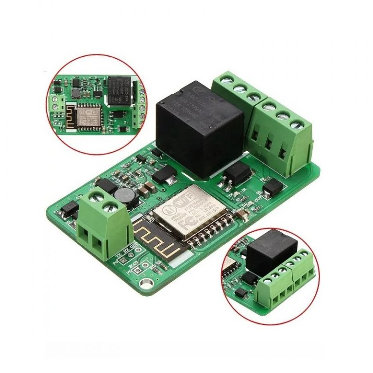 ESP8266 10A DC 7-30V Network Relay WIFI Module -- ROBU.IN