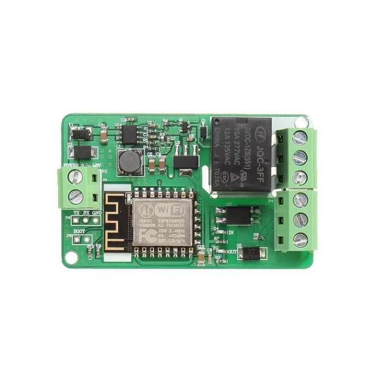 ESP8266 10A DC 7-30V Network Relay WIFI Module -ROBU.IN