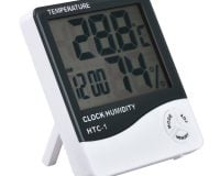 HCT-1 High Precision Large Screen Electronic Indoor Temperature, Humidity Thermometer with Clock Alarm
