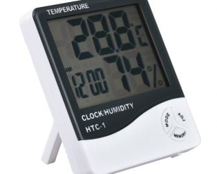 HTC-1 High Precision Large Screen Electronic Indoor Temperature, Humidity Thermometer with Clock Alarm