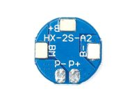 HX-2S-A2 Circular 2S 8.4V BMS 18650 Lithium Battery Protection Plate- ROBU.IN
